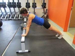 Kathryn demos the erg push up!