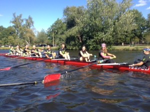 Renegade Rowing Team getting their point to start the Rumble on the River