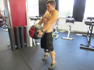 Focus on fully extending the hips!  A Med Ball Clean would be a good scale for beginners.
