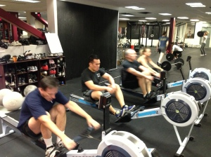 The Renegade Rowing Club getting after 500m!  Tryout for the Renegade Rowing Team July 19th - All are Welcome!