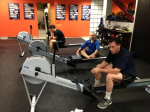 Bob, Dave, and Mike after hitting the 8x500m hard this week!  Solid Guys!