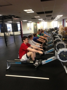 Rowing Warmup at CFB