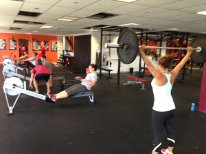 Members at CrossFit Boston hitting this wod last week!