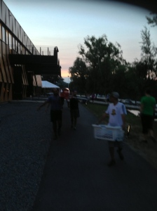 The Renegade Rowing Team after a sunset row on the Charles River!