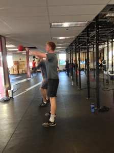BC Men's Rowing getting after some KB Swings!