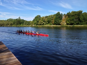 Imagine doing this Rowing WOD on the Charles River