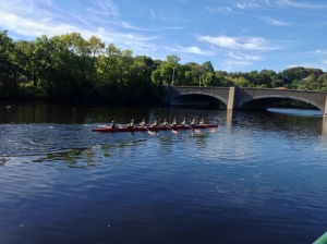 Renegade Rowing Team - Racing through last bridge at Rumble on the River!