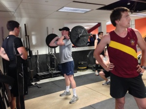 Working the Front Rack with BC Men's Crew