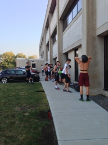 BC Men's Crew getting after some Wall Balls earlier this season