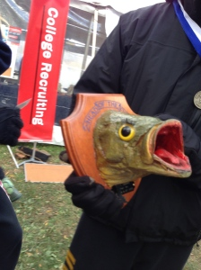 "The Men's Junior Light 8+ Fish Head courtesy of WW Crew - a.k.a. ""Cindy"""