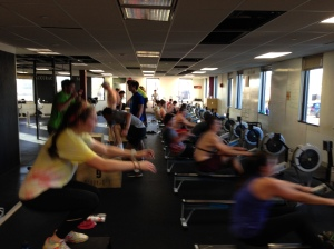 Coxswains pushing hard right alongside their rowers!