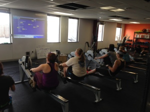 The Ladies getting after it in Heat 1 of the Renegade Rowing League last Saturday!