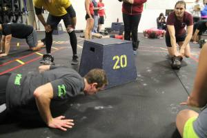 Coach Pat and CFB Badass Consortium attacking push ups at Not Your Average Joe's last weekend.  Got any fun weekend plans?