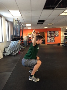 Jimmy from the Loyola Men's Crew Team working his Shoulder Flexibility in the Overhead Squat last Winter.