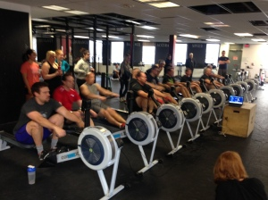 Renegade Rowing League Competitors throwing down in the 2k!
