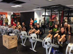 Some Renegades attacking the 2k at the Renegade Rowing League last month.
