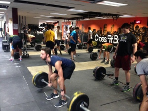 BC Men's Crew had a solid week of training.  This is the team hitting 5x5 Deadlifts on Monday.