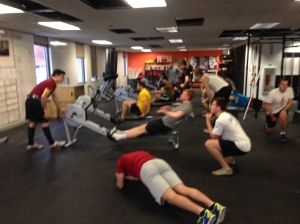 BC Men's Crew getting after some Calories, Planks, and Goblet Squats this week.