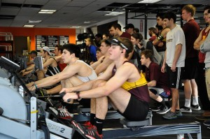 BC Men's Rowing 2k Test last weekend