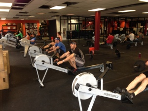 Members of CFB getting after an RWOD last week!  Have you thought about joining the Renegade Rowing Team?