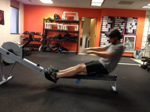 Matt Substituting a 2k Row for a 1 mile run at CFB last week!