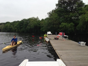 RRT Getting after their first Rowing WOD on the Water last week!