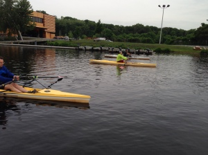 Imagine doing 10k on the water?  Here's the RRT practicing 5 and glides at CRI!