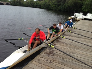 RRT Prepping for there epic end of term Renegade Rowing WOD last year.