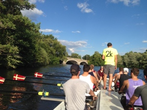 BC Men back on the water in the Barge last Thursday