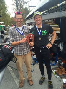 BC Men's Head Coach Brendan Mulvey and Boys Row Boston Head Coach Drew Tennant won a fish head last weekend in the 2x.  Congrats guys!