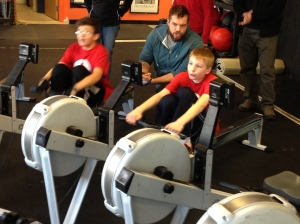 Rowing is for all ages!  Middle School athletes having fun learning to compete at the Renegade Rowing League!
