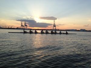 Beautiful Sunset rowing in Jacksonville.